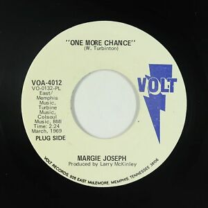 Crossover Soul 45 - Margie Joseph - One More Chance - Volt - VG++ mp3 - promo!