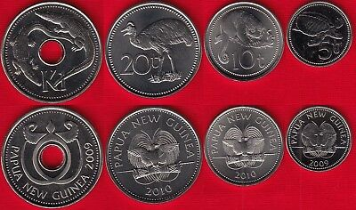 Papua New Guinea Set 6 Coins 1995 In Folder UNC 1 2 5 10 20 Toea+1 Kina
