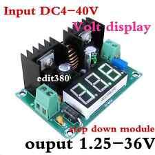200W  8A  DC Converter Regulator Step Down  5V 12V 24V 1.25-36V W/ Volt Display
