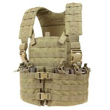 CONDOR TAN CS Modular MOLLE PALS Chest Rig w/ Magazine & Hydration Pouch