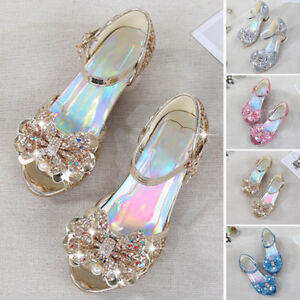 ecb2f71bfe45 Image is loading Children-Sandals-Child-High-Heels-Girls-Princess-Summer-