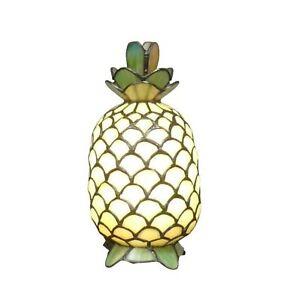 Htdeco-Lampe-Tiffany-ananas-en-verre-Luminaire-de-table-et-de-chevet