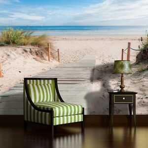 fototapete tapete poster foto bild tapeten wandbild strand meer sommer 3fx1998p8 ebay. Black Bedroom Furniture Sets. Home Design Ideas