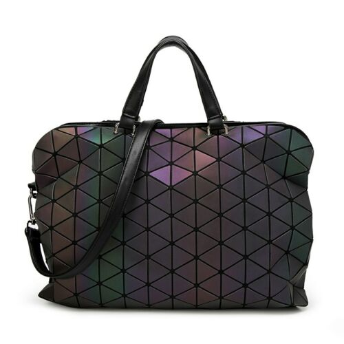 Geometric Laptop Luminous Plaid Diamond Lattice Ladies crossbody Messenger Bags