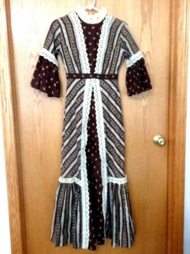 Vintage Gunni Sax Style Prairie Hippie Boho Dress