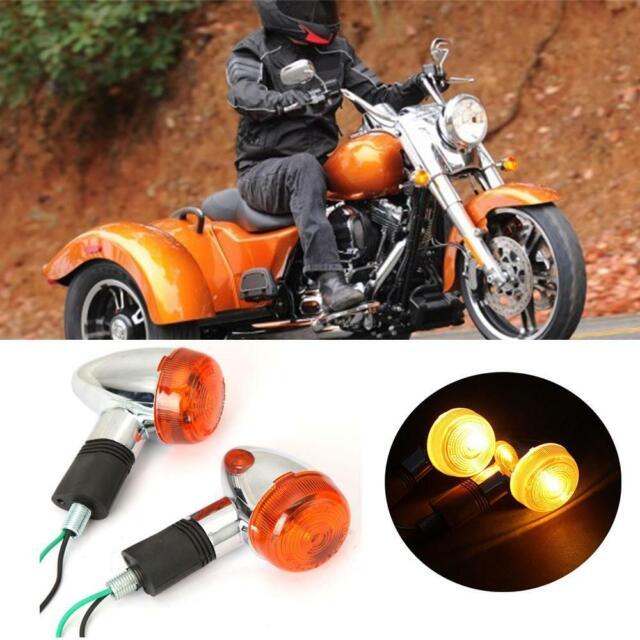 4X Motorcycle Amber Turn Signal Light For Kawasaki Vulcan VN 500 700 750 800 900