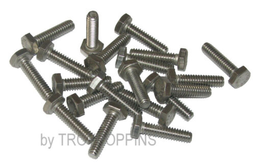 """20-SS 1//4/""""-20 X 1/"""" HH HEX HEAD BOLTS MACHINE SCREWS STAINLESS STEEL 18-8 PARTS"""