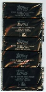 Lot-of-5-2019-Topps-Series-1-Silver-Packs-Trout-Bryant-Ohtani-Auto-039-s