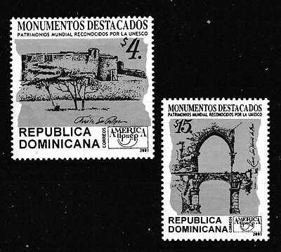 Topical Stamps Unesco Welt Heritage Standorte Mnh 2er Set Briefmarken 2001 Dominikanisch To Have Both The Quality Of Tenacity And Hardness