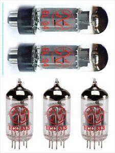 2x EL34 + 3x ECC83S JJ-Electronic lampes NEUF MATCHED JMP JCM Plexi 2204 MHZ40