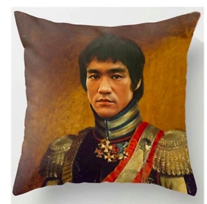 BRUCE-LEE-PAINTING-Cushion-Cover-Retro-Classical-Art-Vintage-45cm-Gift-UK
