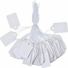 500 Price Tags White Price Labels 5 X 3 Cm With Hanging String Free Shipping