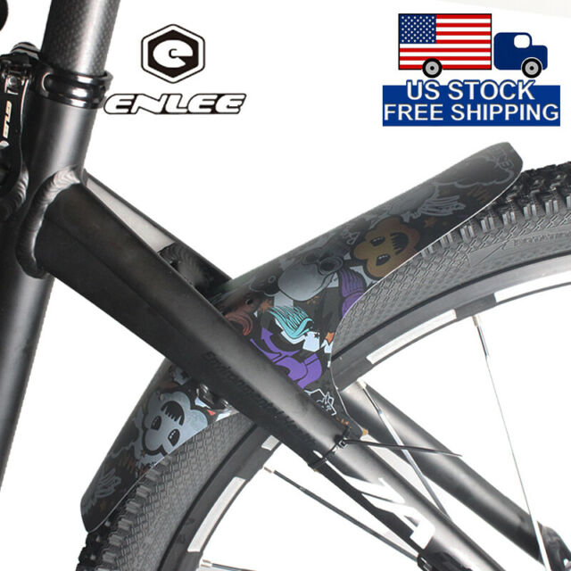 2PCS//set Mountain Bike Bicycle Cycling Road Tire Front//Read Fender Mudguard US