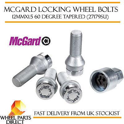 Black Wheel Bolts /& Locks 16+4 12x1.5 Nuts for Fiat Punto Evo 08-12