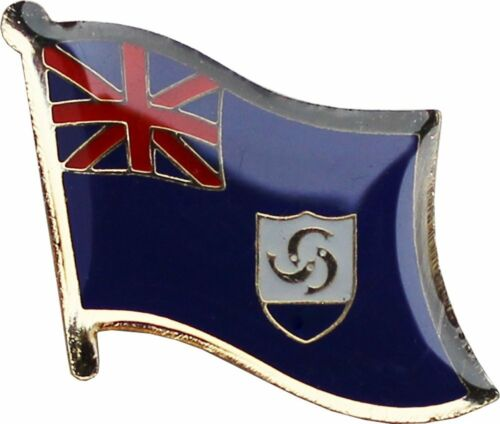 Wholesale Pack of 3 Anguilla Country Flag Bike Hat Cap lapel Pin