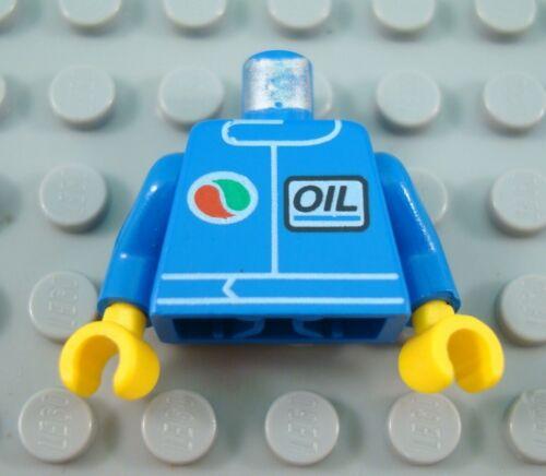 LEGO Blue City Town Octan Oil Town Minifig Torso Body Part