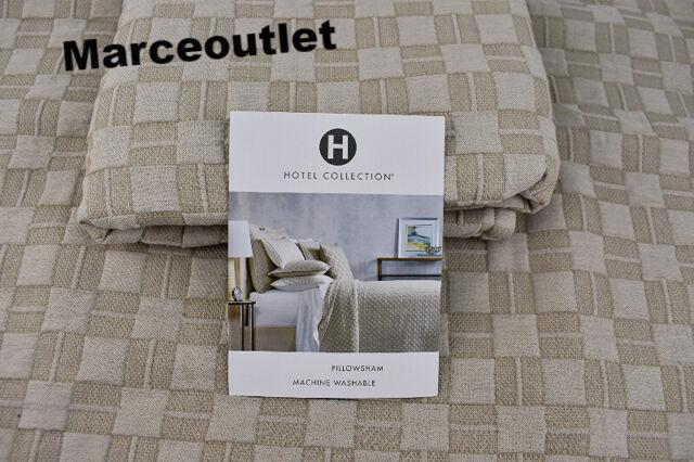 Hotel Collection Diamond Embroidery Matelasse EURO Pillowshams Set Beige