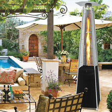 Pyramid Patio Gas Heater Stainless Steel with Regulator Hose Wheel Multi Colored