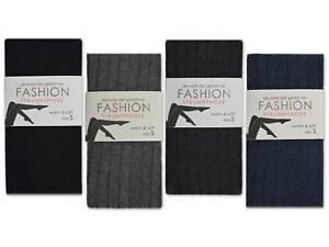 Femmes-Collants-Coton-Noir-Gris-Anthracite-Jeans-Cotele