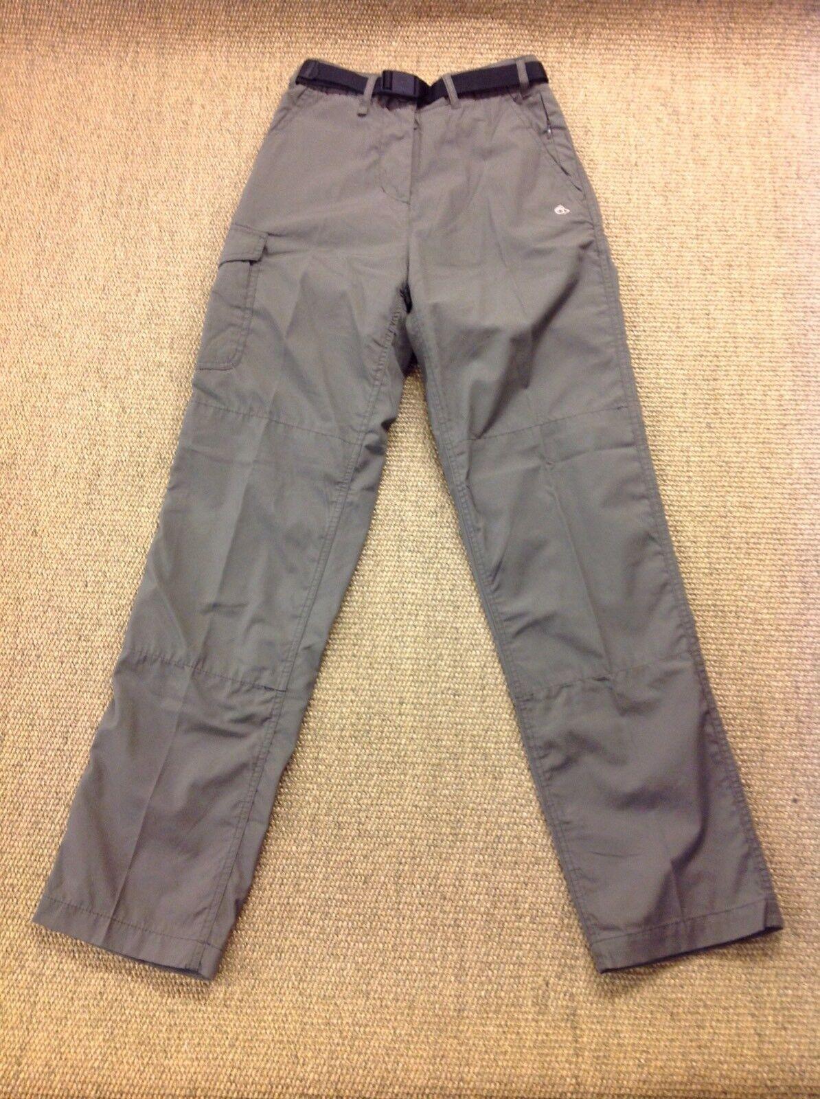 Woman's CRAGHOPPERS Size 8, L31 Kiwi Solardry Green Walking Trousers. Superb