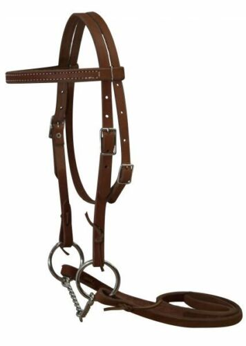 MEDIUM OIL Leather Western PONY Headstall//Rein//Bit Set MADE IN THE USA NEW TACK