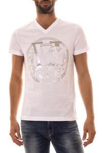 B3goa720 Versace 3 Sweatshirt Maglietta Bianco Cotone Jeans Shirt Uomo T 8CaT1