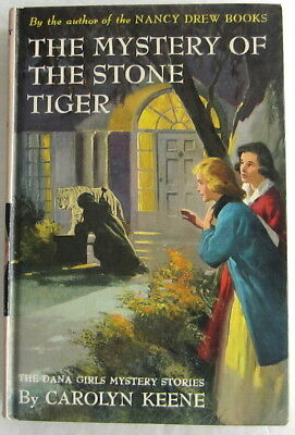 Dana Girls #25 Mystery of the Stone Tiger Nancy Drew Author Carolyn Keene Beige