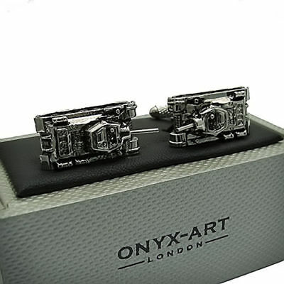 Tanque de ejército Diseño Gemelos en Caja de Regalo militar-Onyx-Art London CK659