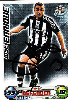 Newcastle United F.c Jose Enrique mano firmado 08//09 Campeonato Match Attax.