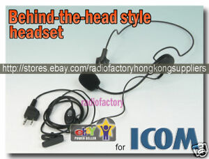 Behind-the-head-style-headset-for-ICOM-F3-F3S-E58S