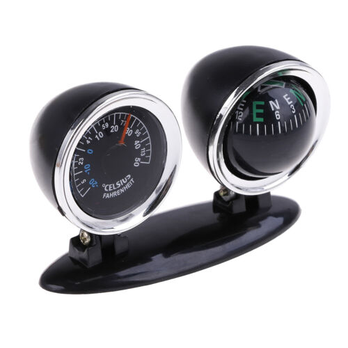 2 in 1 Guide Ball Car Compass Thermometer Car Ornament Direction Dashboard Ba ZY