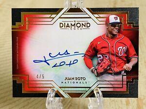 2021 Topps Diamond Icons Autograph Auto Red Parallel Juan Soto 4/5 SSP