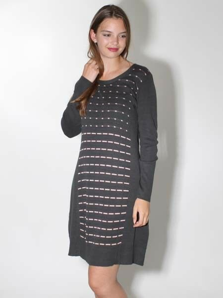 45e4fdaaad65d Dress Knit Dress from Simclan Size Anthracite pink 2018 20% 44 ...