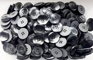 23mm 36L Grey Shell Effect Pearlescent 4 Hole Quality Sewing Buttons W433