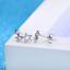 Orecchini-Donna-Stelle-Cristallo-Punto-Luce-Paio-a-Bottone-Swarovski-Idea-Regalo miniatura 4