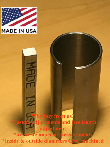"""1-1//8/"""" x 1-1//4/"""" x 3/"""" Shaft Adapter Pulley Bore Reducer Sleeve Bushing Sleeve"""