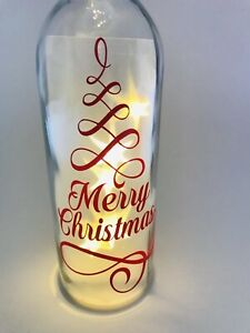 Merry-Christmas-Vinyl-Decal-Sticker-For-Wine-Bottle-Red