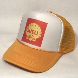 Vintage Style Shell Truck Stop Store Gas Oil Trucker Hat Snapback ... 8dcfe7a78161