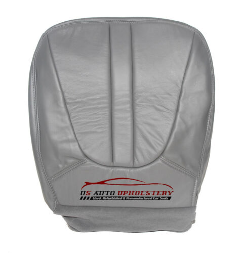 1998 Ford Expedition XLT Driver Side Bottom Replacement Leather Seat Cover Gray