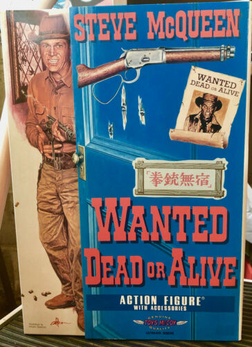 STEVE MCQUEEN WANTED DEAD OR ALIVE TOYS McCOY RARE super action figure