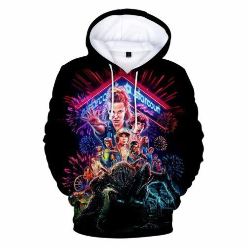 3D Print Stranger Things Tops Pullover Hoodie Cotton Blended Jumper Sweatshirt