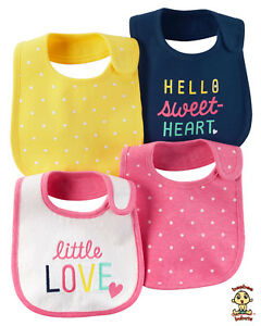 Carter-039-s-4-Pack-Bibs-Authentic-and-Brand-New