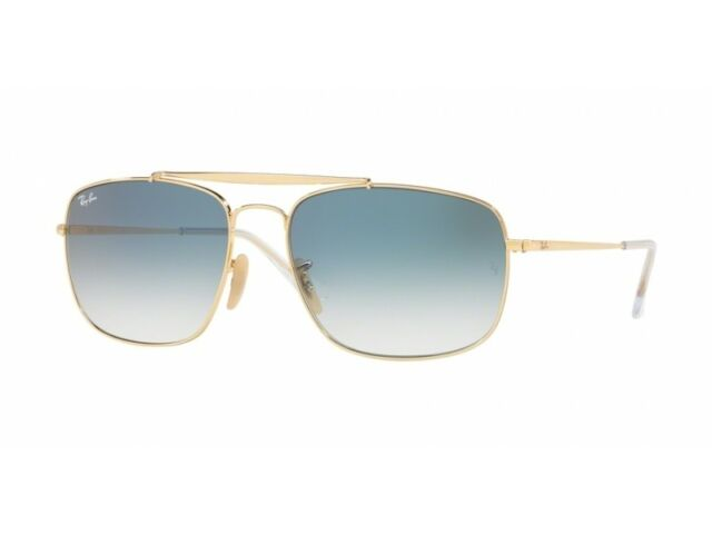 d628a512fd Sunglasses Ray Ban The Colonel Rb3560 001 3f 58 Gold Gradient Blue ...