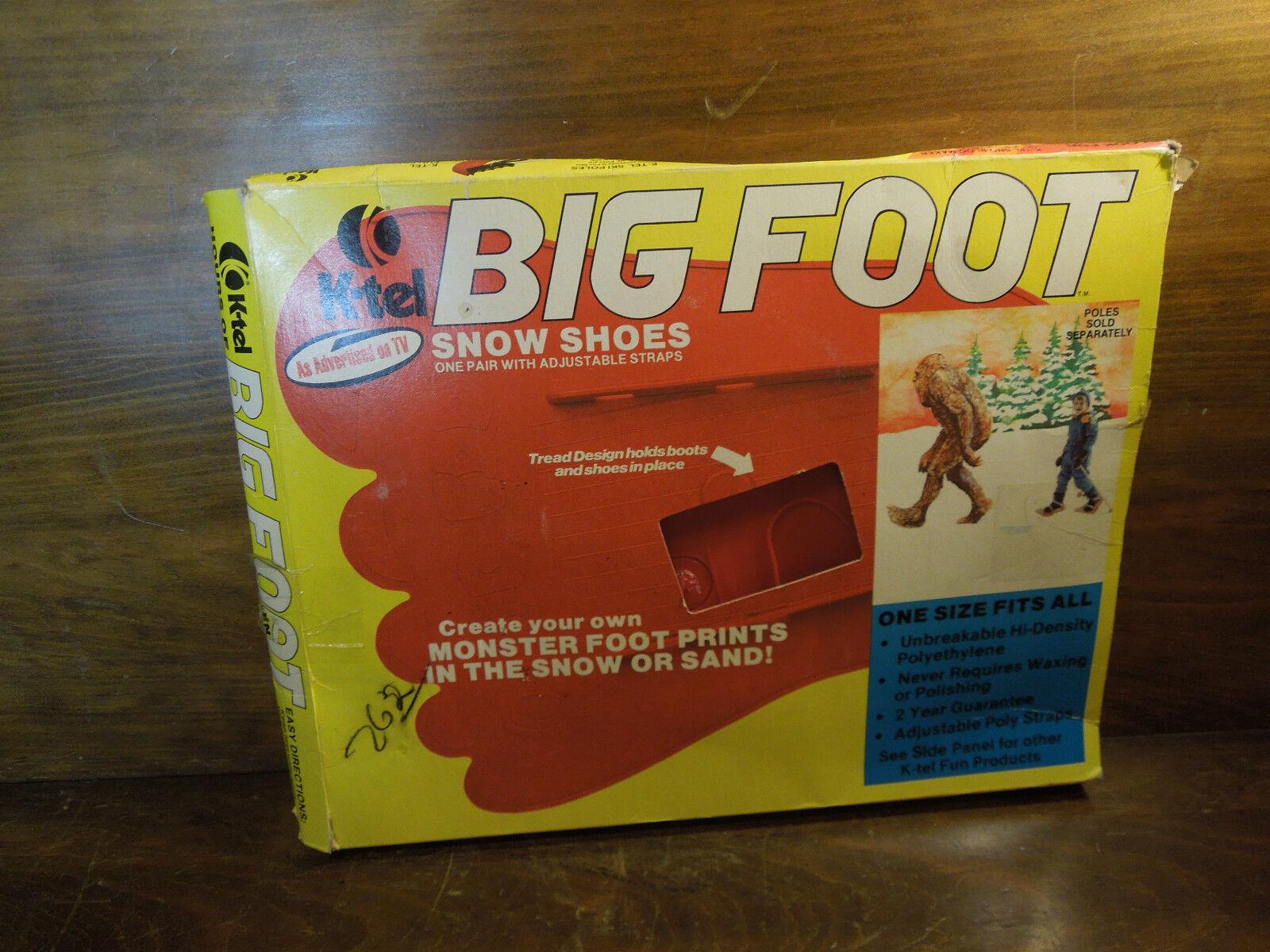 Vintage Big Foot Schnee Schuhe für Kinder von K Tel mit Original Kiste