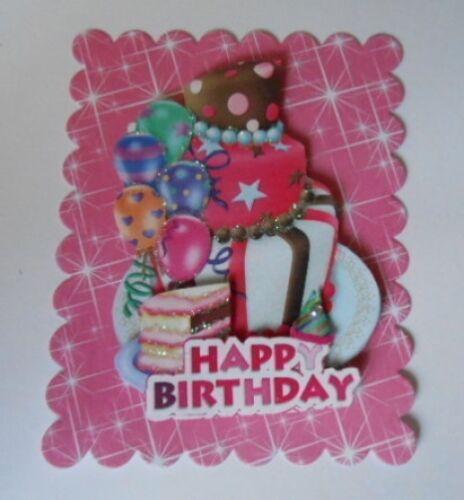 Pack 2 celebration birthday cake topper embellissement pour cartes et artisanat