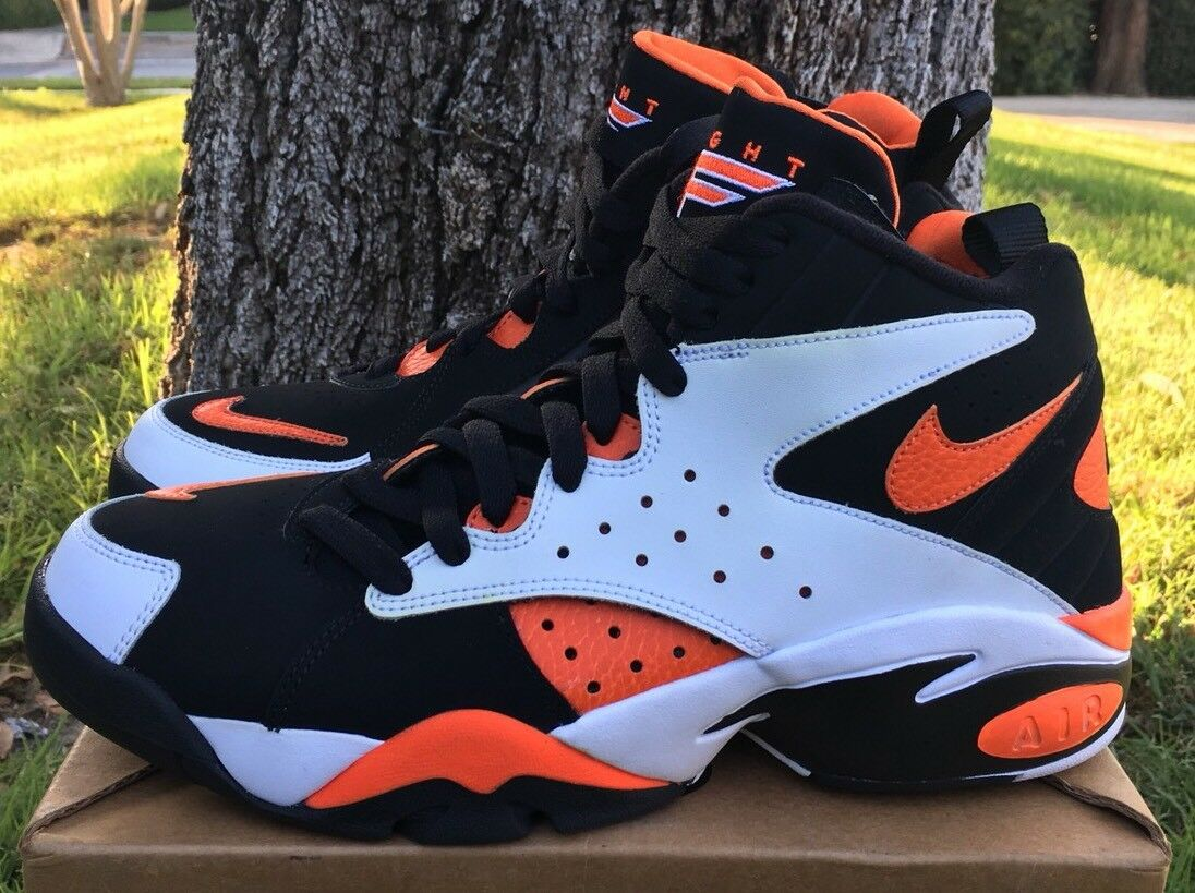 Nike Air Maestro II LTD White Rush orange Black Black Black Basketball Size 9 AH8511-101 New b555ac