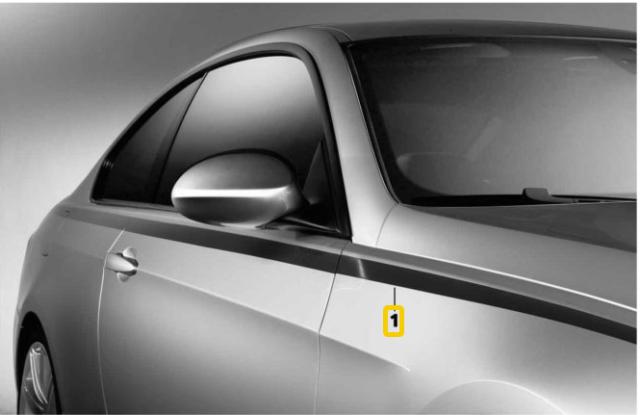 BMW Neuf D/'Origine E82 E88 M PERFORMANCE Pin-Stripes Autocollant Décalque Kit