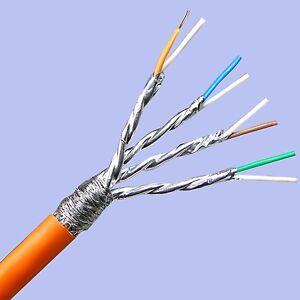 cat 7 verlegekabel 10m netzwerk kabel lan gigabit pimf cat7 cat6 cat5e ebay. Black Bedroom Furniture Sets. Home Design Ideas