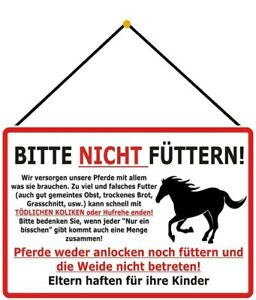 Horses-Not-Fed-Tin-Sign-Shield-with-Cord-7-7-8x11-13-16in-F0301-K