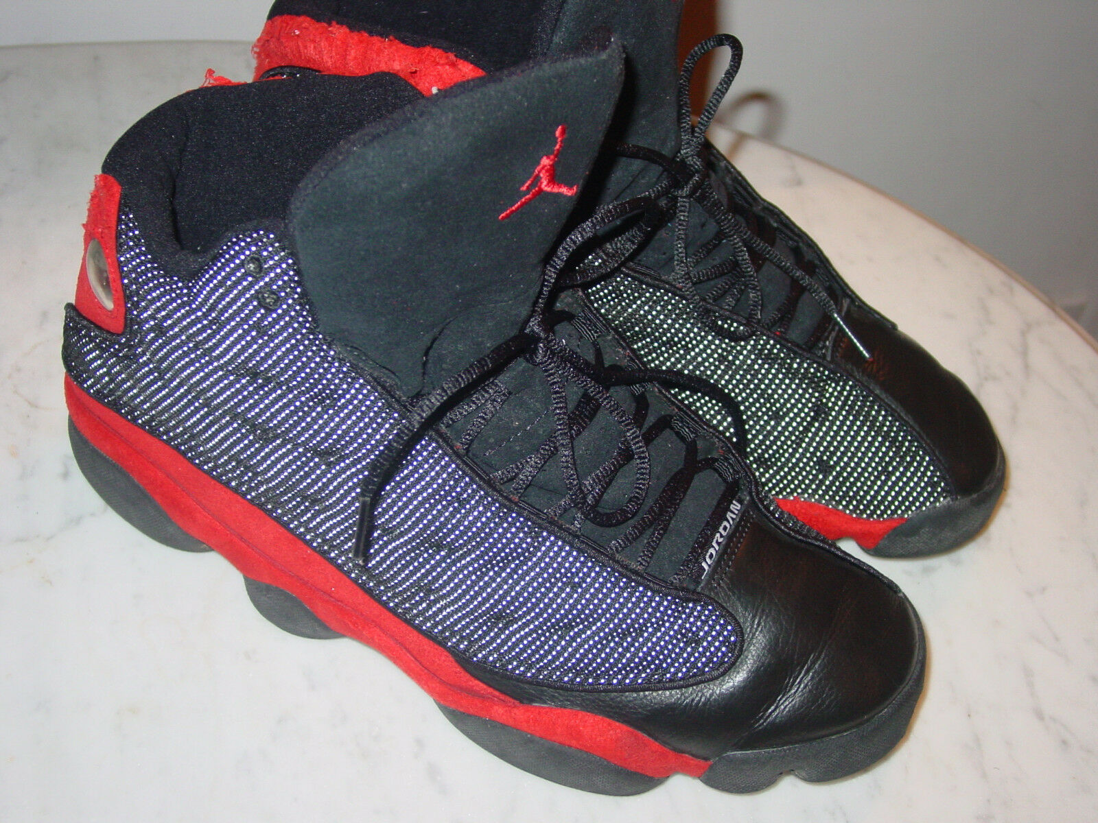 2004 Nike Air Jordan Retro 13 Black/True Red Basketball Shoe Size 13 Sold As Is!
